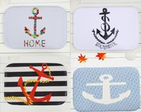 Wholesale 40 cm Anchor Series Bath Mats Anti Slip Rugs Coral Fleece Carpet For For Bathroom Bedroom Doormat Online
