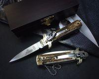 antler handle - Hubertus Solingen inch D2 classic Antler handle pocket knife folding knife camping knife gift knife for man freeshipping