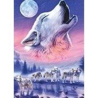 arctic arts - HWB Diamond painting Wolf Arctic Snow King home decoration wall decor Handicraft Diamond mosaic patchwork X46cm