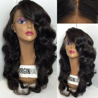 Wholesale Natural Fairline Brazilian Glueless Full Lace Wigs with Baby Hair Human Hair Lace Front wigs for Black Women Wavy Natural Color