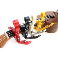 achat en gros de guitare touches de réglage gros-Gros-1Pcs Capo Classique Tune Quick Change Trigger Clamp Key Capo Pour Guitare électrique Guitare Parts Accessoires couleur aléatoire