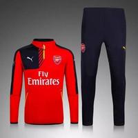 arsenal coat clothes - Original new Arsenal soccer training clothes sweater coat men kids long sleeved Set autumn winter Soccer Jerseys sport Soccer Uniforms