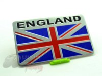 aluminum flag - Silver Aluminum UK Flag Car Body Tailgate Emblem Sticker Union Jack Flag Badge for ALL Car