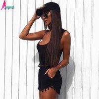 american apparel blazer - Gagaopt Summer Tassel Spaghetti Strap Top and Shorts set piece Set Beach Playsuit American Apparel S0497