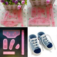 Wholesale Sale Sneaker Shoes Icing Cake Decorating Mold Embosser Mould Sugarcraft Molds Embosseds Drop Shipping