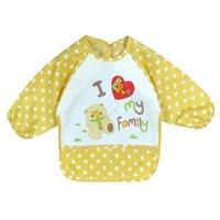 apron pattern child - Children Bib Cartoon Printed Long Sleeve Baby Bib Infant Waterproof Apron Clothing Pattern for Choose S01