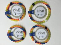 beaded jewelry - Neon Lokai Bracelets Mud and Water Black and White Beads Lokai Silicone Bracelet Gift Jewelry Find Your Balance Make A Wish Logo