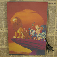 bg sticker - lion about famous cartoon movie quot kitchen retro kraft paper posters Movie poster Wall stickers BG