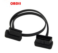Wholesale Flat Thin As Noodle OBD2 Pin ELM327 Male To Female Elbow Extension Cable Light High Quality