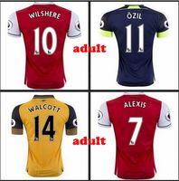 arsenal t shirt - 2016 Best Thai Quality Arsenals Home Away rd T Shirts Camisetas Men JERSEYS Survetement Men Shirts Free Patches