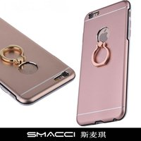metal bracket - Shockproof Ring Mobile Phone Shell For Apple iPhone Metal buckle bracket electroplating protective sleeve bracket ring