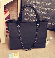 big beauty shop - Portable chain bag big letters beauty bag canvas bag bag backpack bag bag mummy shopping bag