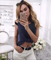 Women Tank Top Solid 2016 European Autumn And Winter Fashion Sexy Sleeveless O-Neck Loose Sweater Womens Vest Tops Woman Crop Ladies Blouses Kintwear T-shirt