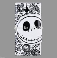 Wholesale The Nightmare before Christmas Time Burton s White Skull PU Long Wallet Purse Birthday Gift