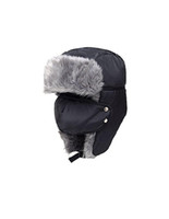 Wholesale Mens Nylon Russian Style Ski Cap Women Winter Skiing Ear Flap Hat Waterproof and Waterproof Hat