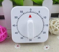 Wholesale 20pcs Novelty White Square Minute Mechanical Timer Reminder Counting for Kitchen Classic kitchen timer