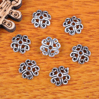 Wholesale Hualu pieces mm Flower Bead Caps Spacer Retro style pendant Connector Tibetan Silver Jewelry Making Fingding necklace Bracelet