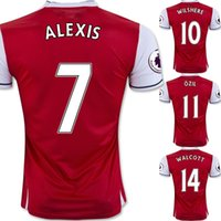Wholesale ALEXIS Soccer Jersey CAZORLA Football Jerseys Tops Customized Soccer Jersey Shirt Soccer WEAR