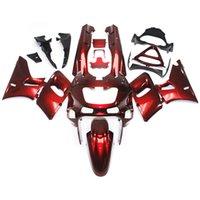 achat en gros de capotage zzr-Carénages pour Kawasaki ZZR400 ZZR-400 ZZR600 93 94 95 96 97 07 1993 - 2007 Kit de carénage complet pour moto ABS Red Cowlings