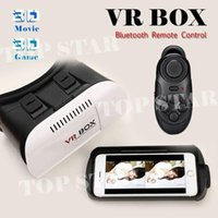 Wholesale 8 Photos Google Cardboard VR BOX Pro Version VR Virtual Reality D Glasses Smart Bluetooth Wireless Mouse Remote Control Gamepad