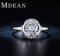 aa jewelry rings - MDEAN White Gold Filled Rings for Women Round Wedding Jewelry AA Zirconia Vintage Accessories Engagement Bague BIjouterie MSR272
