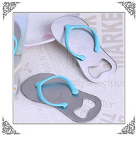 alloy slippers - Alloy stainless steel Beach slippers Beer Bottle Openers Wedding Favors wedding supplies gift box cheap Practical unique