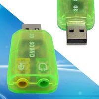 Wholesale External USB D Virtual Audio Sound Card Adapter Converter GRN usb audio adapter computer sound card SNS