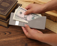 Wholesale 100 High Quality Guarantee Gold Brand Mens GenuineLeather Magic Credit Card ID Holder Money Clip Wallet porte monnaie