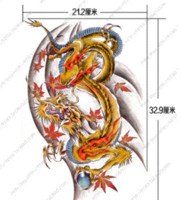 Wholesale Golden Dragon temporary tattoo stickers for men adult Large waterproof tattoo for back animal big tattoos sticker