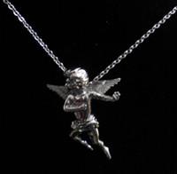 angels cast - Fashion Unique L Stainless Steel Casting Vivid Baby Angel Pendant Necklace Love Cupid Pendant Necklace
