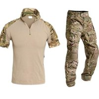 Wholesale Outdoor Hunting Camouflage Suit Men Multicam Uniform Tactical Camouflage Hunting Clothes Short Shirt Cargo Pants Mens Hunting Sets