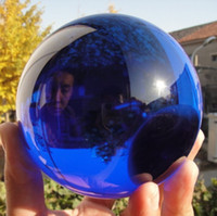 Wholesale Asian Rare Natural Quartz Blue Magic Crystal Healing Ball Sphere MM Stand A A