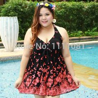 Wholesale Mordern Fit OverSized Swimwear High Waisted One Pieces Halter V neck Swimsuit Womens Summer Spring Dress Cloth XL XL