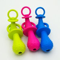 Wholesale 100Pcs New dog rubber pacifier chew toy resistant to bite pet supplies products for animals mini pacifier rubber