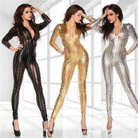 Wholesale sexy Lingerie Sexy Body Suits for Women PVC Erotic Leotard Costumes Latex Bodysuit Catsuit women leather dresses plus size M L XL XXL
