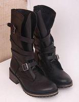 banddit boots - Md banddit cowhide vintage buckle boots decoration martin boots