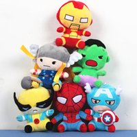 al por mayor superhéroes juguetes de peluche-Los avengers peluche muñecas juguete superman spiderman batman juguetes super héroes avengers Alliance maravilla de los avengers muñecas versión 2Q