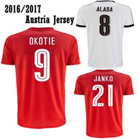 Wholesale Thai version of the quality Austria Jerseys Home Red and Away White ARNAUTOVIC Football Shirt Austria Jerseys