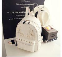 ban plastic bags - Miss Han Ban pu shoulder bag backpack handbag tide Korea Institute of wind bag new fashion wild rivet