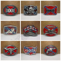 active flag - Fashion belts Confederate Southern South Rebel Flag Civil Flag Belt Buckles Civil War Flag Lebel Belt Buckles Dixie Flag Buckles LJJH1410