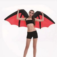 adult bat wings - 2016 dark angel wings inflatable clothing adult Christmas costumes demon bat inflatable costume makeup