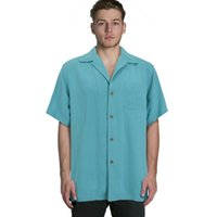 bahama m - Europe bahama Men silk short sleeve shirts vintage loose plus big size