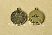 antique balance scale - mm Vintage Antique Bronze Alloy Metal Round Tags Libra The Balance Scale Charming Constellation Charms
