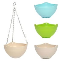 Wholesale New Hot Plastic Plant Hanging Pot Chain Home Balcony Decor Indoor outdoor Decoration