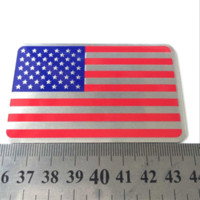 american flag vinyl - 1pcs Car Styling The United States American Flag Car stickers For Cadillac Buick Chevrolet Lincoln Chrysler Jeep Dodge Focus