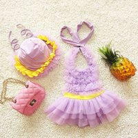 Wholesale 2016 Halter Infants And Young Children Swimsuit Spa Siamese Female Child Parent Cute Baby Girls Swimwear Children