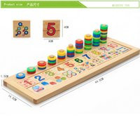 Wholesale Early Education Toys Wooden Montessori Teaching AIDS Children Learn To Count Math Teaching Logarithms Board Parent Child Communication