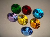 Wholesale mm Promotional Round Crystal Diamond Paperweight For Wedding Decoration Gifts Model Home Decoration
