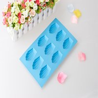 Wholesale 9 CUP hot sell export high sealing and confortable silicone cake baking mold shell type chocolate mold