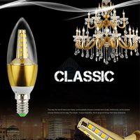 Wholesale x1pcs ac85 v input watt super bright led candle light led hotel light E27 base or E14 base degree led bulbs